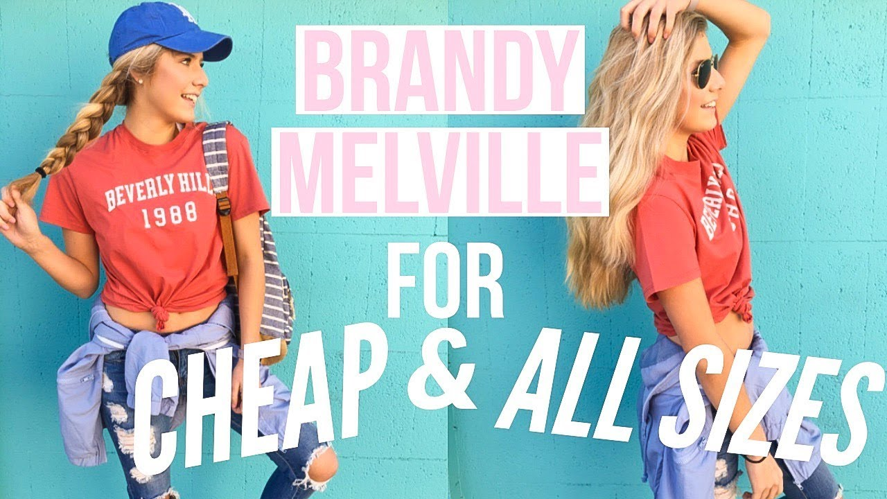 8a42a375d77 BRANDY MELVILLE STYLE STEAL! Cheap & ACTUALLY Fit! - YouTube