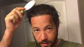 Hair Replacement Men's hair system review Getting ready in the morning