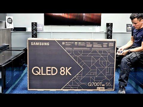 """Samsung 8K QLED 2020 Q700T 55"""" Unboxing, Setup with 8K Demo Videos. Entry level 8K"""
