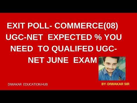 EXIT-POLL OF EXPECTED TARGET % OF UGC-NET COMMERCE(08)--7310762592--- - 동영상