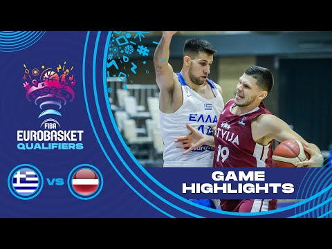Greece - Latvia | Highlights - FIBA EuroBasket 2022 Qualifiers