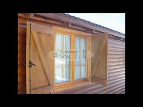 Puertas y ventanas para casas de madera youtube for Modelos de frentes de casas