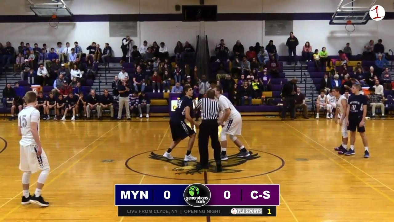 WEBCAST REPLAY: Mynderse visits Clyde-Savannah in boys hoops opener (FL1 Sports)