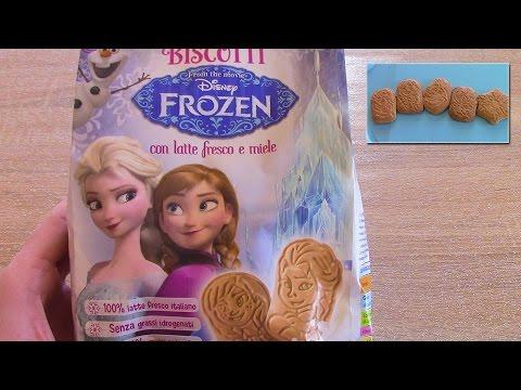 Frozen Surprise Cookies | Disney Elsa and Anna figures (milky biscuits) + games behind