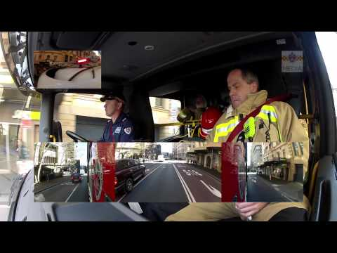 Ride-along aboard the Fire & Rescue NSW, City of Sydney Flyer