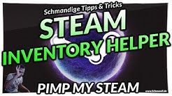 Der Steam Iventory Helper im Browser - Steam Massenverkauf, Skin Float Value direkt angezeigt.