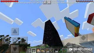 Membuat lampu sorot beacon dan portal neraka part2 Minecraft survival Indonesia#46