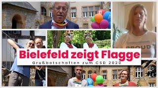 Bielefeld zeigt Flagge - CSD Bielefeld 2020 - Grußworte, Flagge-Hissen und Musik-Video