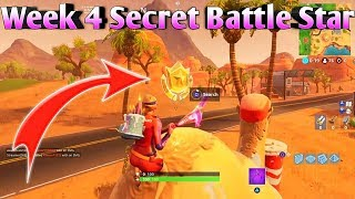 Fortnite Battle Royale - Week 4 Secret Battlestar Location (Season 5 Road Trip Challenges)