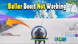 Fortnite Baller Boost Not Working~No option for using boost