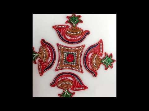 Acrylic Decorated Rangoli Available 2017