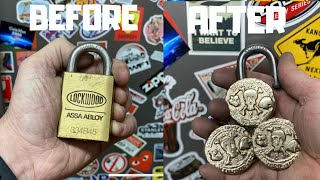 Pirate Coins From Padlock 🔒- Brass Casting - ASMR Metal Melting - BigStackD Casting