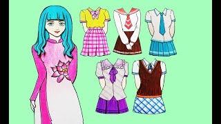 Búp bê giấy-Thiết kế quần áo-Nữ sinh/Clothes(School)-Paper doll-종이 인형/紙人形/纸娃娃