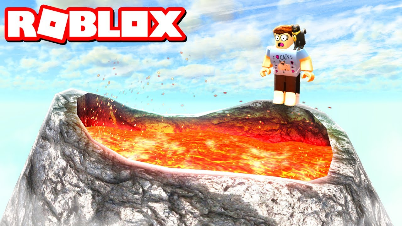 survive a volcano in roblox
