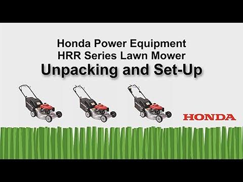 HRR216 Series Lawn Mower Unpacking and Setup