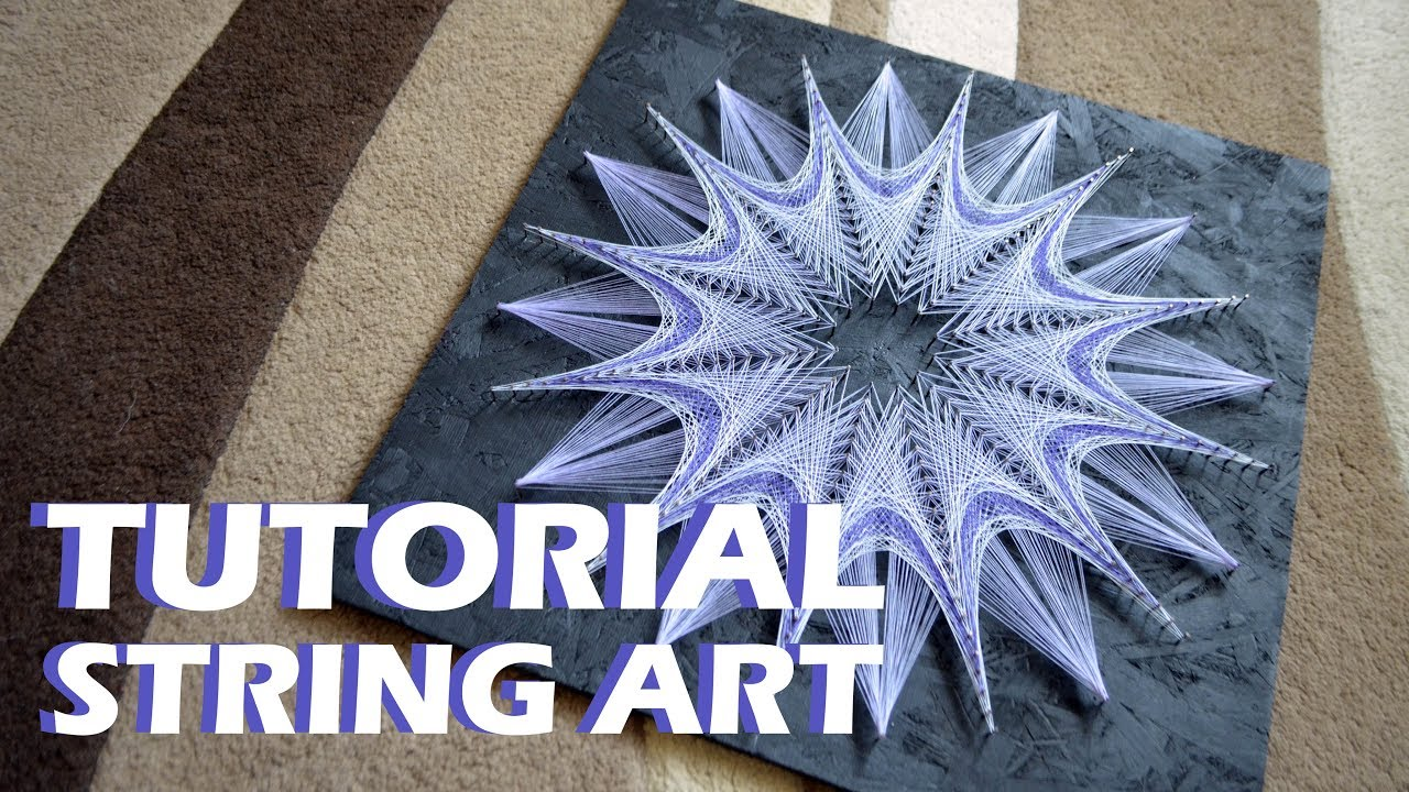 Pastel Picture String Art Timelapse Tutorial Youtube