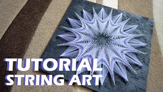 PASTEL PICTURE | string art timelapse | TUTORIAL