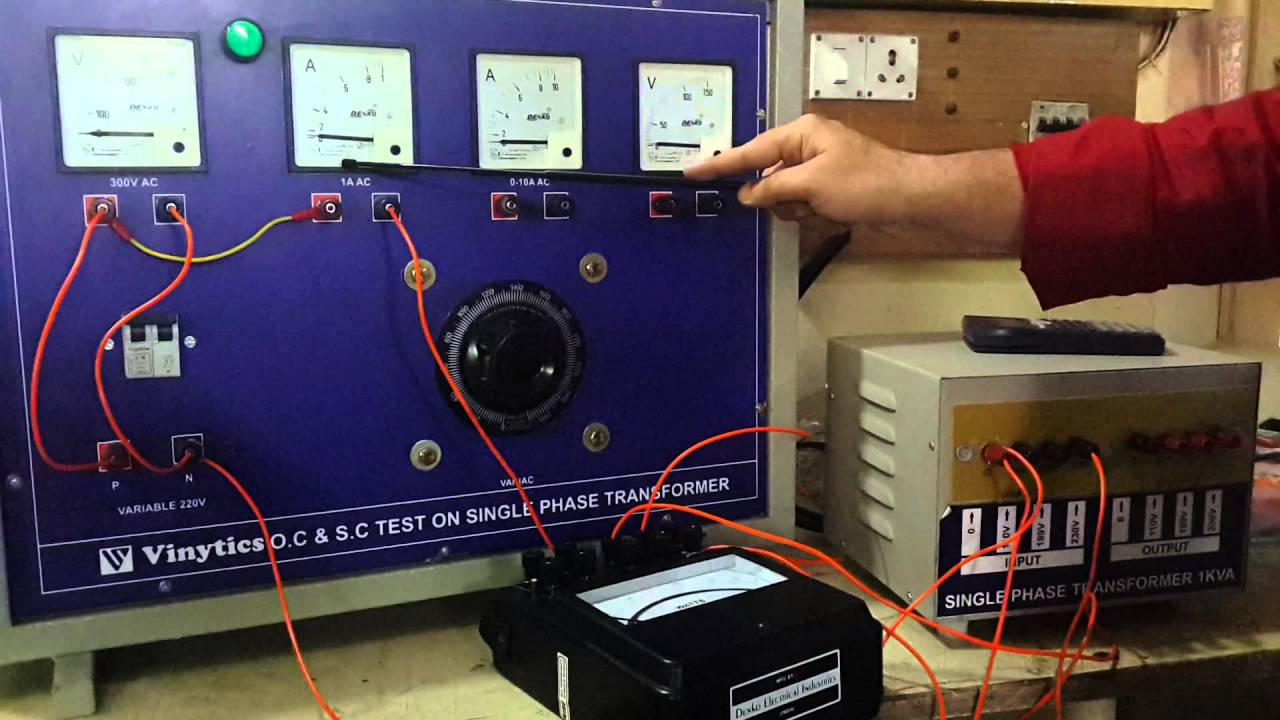 Learn Online By Practical Open And Short Circuit Test On Single Wiring Phase Transformer Hindi Youtube