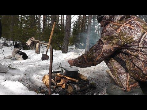 Люди уходят в ЛЕСА! Жизнь в лесу. Варим УХУ на костре! Заготовка строй материала...