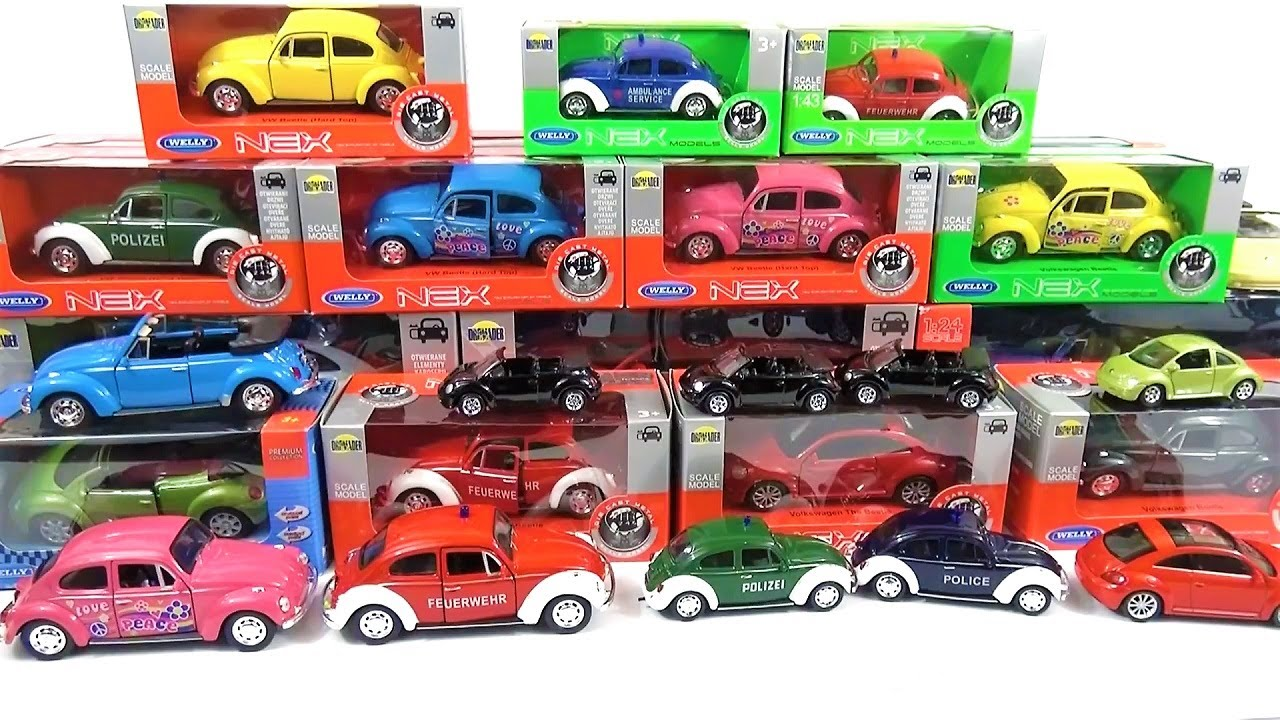 A Lot Of Cars Welly Video For Kids Volkswagen Beetle Youtube