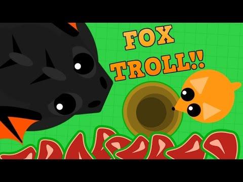 MOPE.IO BLACK DRAGON FOX TROLL!! // Funniest Moment in Mope.io History