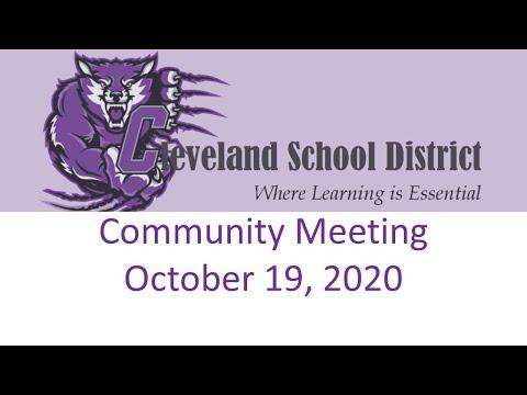 CSD October 19, 2020 Community Meeting