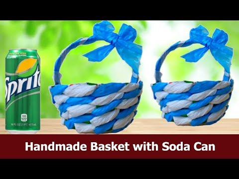 DIY  Handmade Basket with EMPTY Soda Can ( SUPER EASY CRAFT )  Aloha Crafts