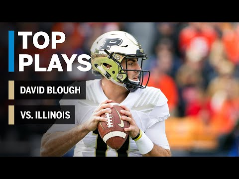 Top Plays: David Blough Highlights vs. Illinois Fighting Illini | Big Ten Football