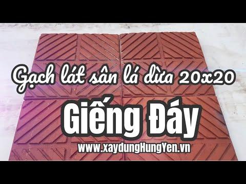 Gạch Lá Dừa Trống Trơn 20x20 Giếng Đáy | Gạch Lát Vỉa Hè, Sân Vườn Giếng Đáy | Gạch Ngói Giếng Đáy