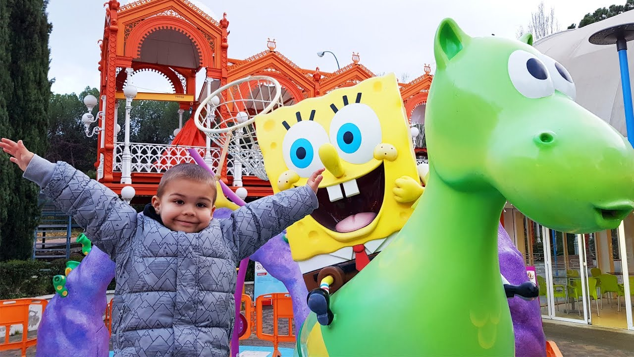 Dima in Nickelodeon Park for kids