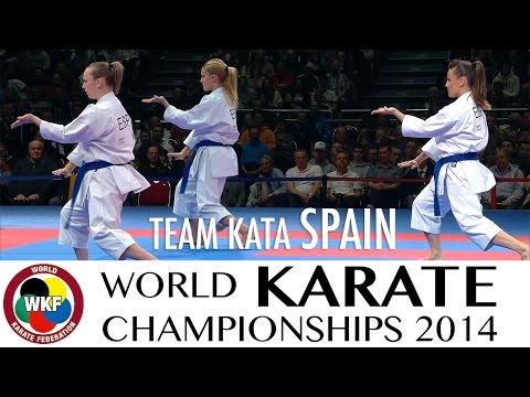 Team Kata SPAIN. Kata Annan. 2014 World Karate Championships.