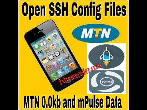 How To Create/Open SSH Config File For MTN 0.0kb And MPulse Data Via HTTP Injector And KPNTunnel Rev