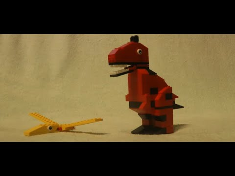 How To Build Make Tyrannosaur T Rex Dinosaur From Lego 10664 Set