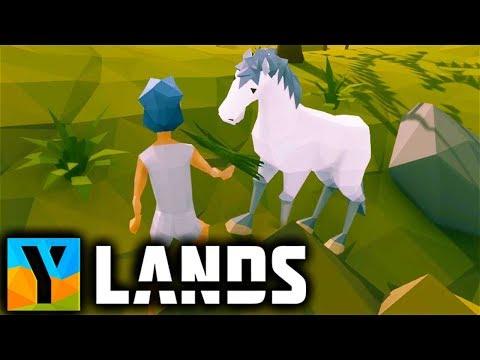 Ylands - Exploring CAVES and TAMING a HORSE! - Ylands Gameplay Part 1