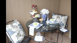How To Decorate A Small Patio for Summer 2017 / Apartment Patio Decor / Small Patio Entertaining