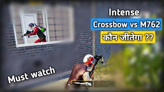 crossbow vs m762 who will win intense situation pubg mobile pubg mobile hindi gameplay