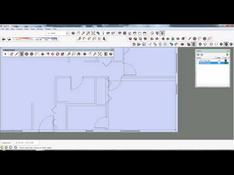 Sketchup tutorial importing an autocad dwg file for Sketchup import