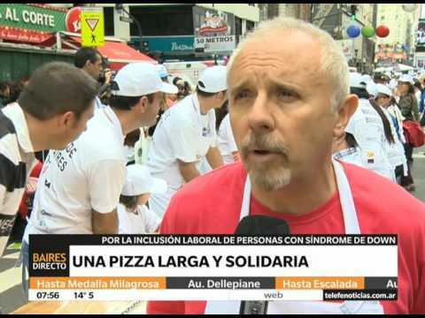La pizza más larga de Buenos Aires - Telefe Noticias