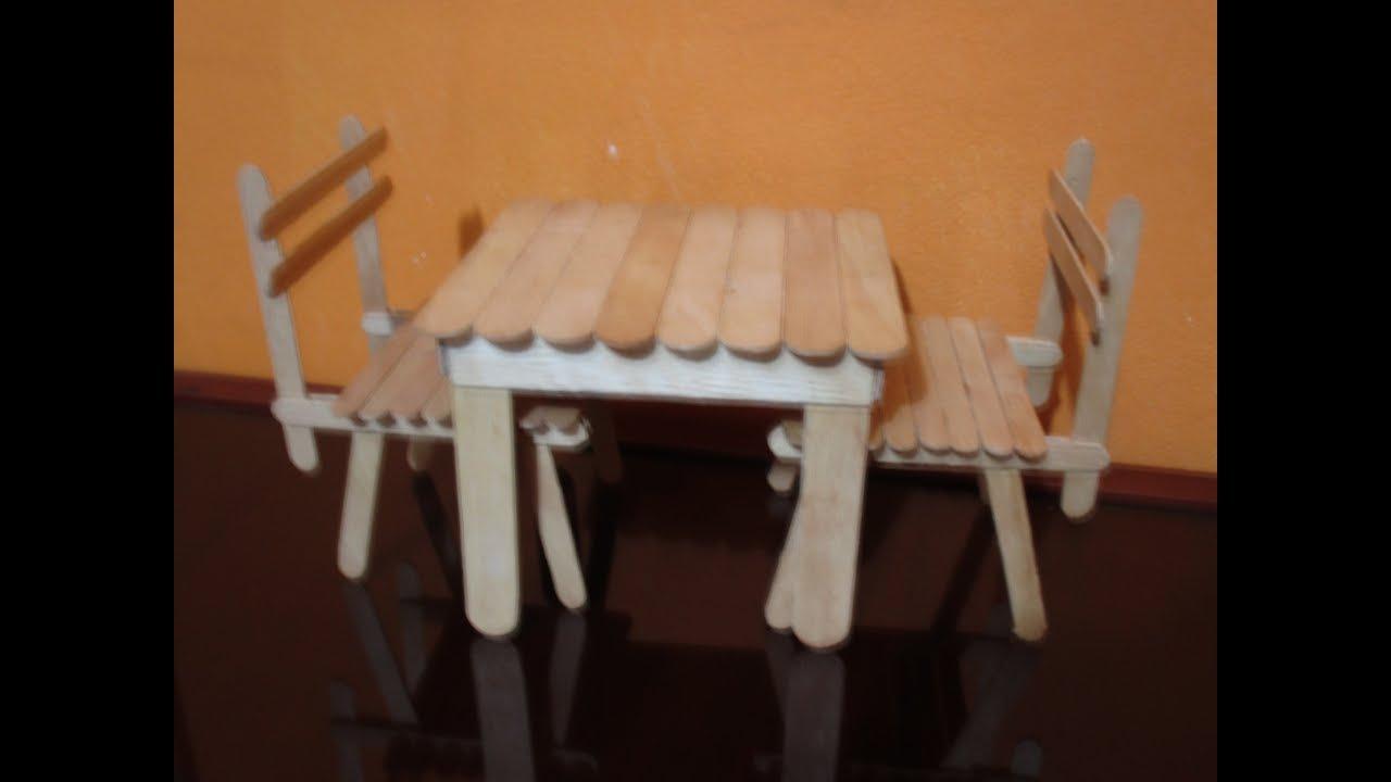 Cmo hacer una mesa para muecas con paltos bajalengua