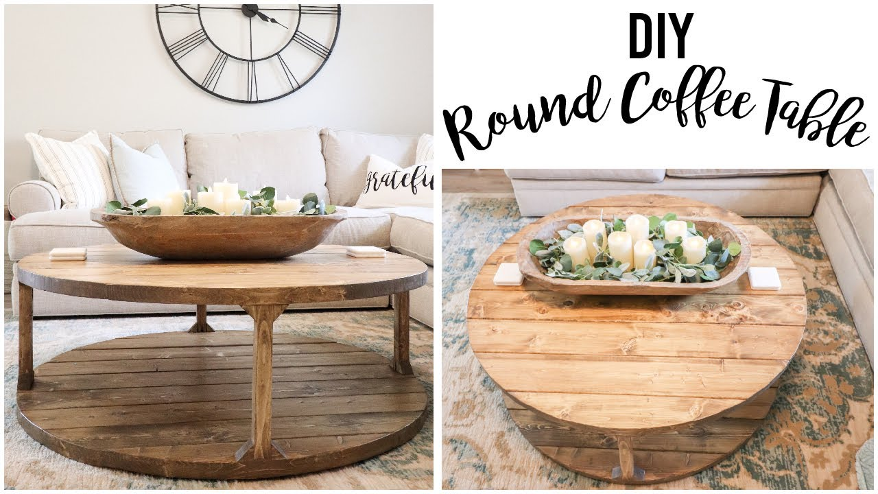 Restoration Hardware Inspired Diy Round Coffee Table Youtube