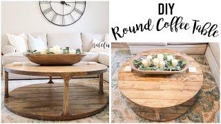 Restoration Hardware Inspired - DIY Round Coffee Table