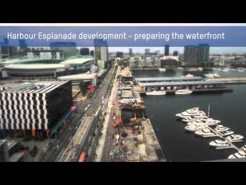 Harbour Esplanade development -- preparing the waterfront