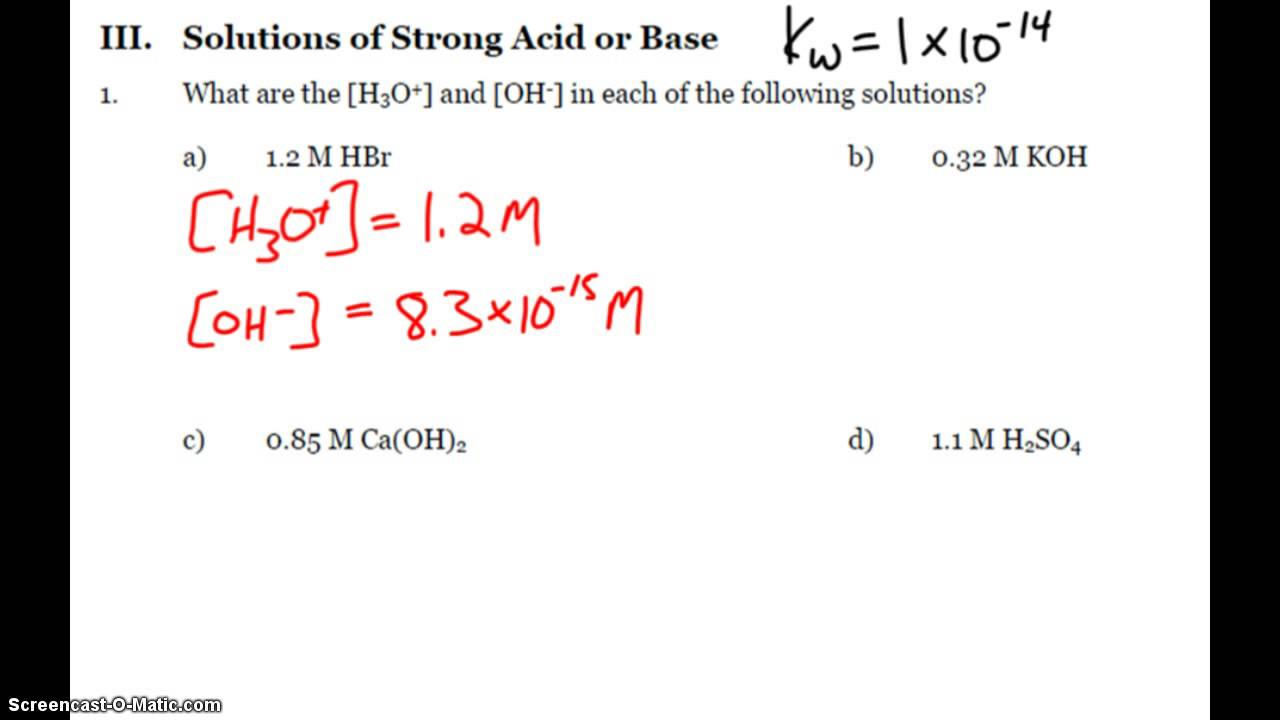 ap chemistry acid and base practice problems ap chemistry acid and base practice problems