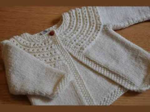 Free Knitting Pattern Baby V Neck Cardigan : Easy Knit Baby Cardigan - YouTube