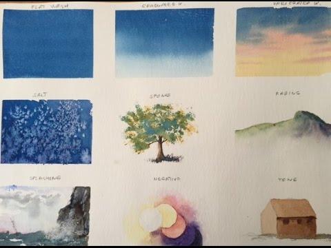 9 важных техник в акварели/. 9 Very Important   Techniques In Watercolor.