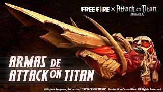 ¡Armas de Attack on Titan en Free Fire! | Garena Free Fire