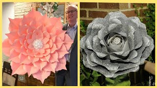 Giant Paper Flower Ideas Of 2019 / paper Flower Craft Ideas.