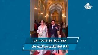 Con cientos de invitados se celebró este enlace matrimonial en donde se vio a los novios pasear sin ninguna restricción