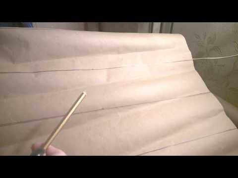 Пол из упаковочной бумаги своими руками видео