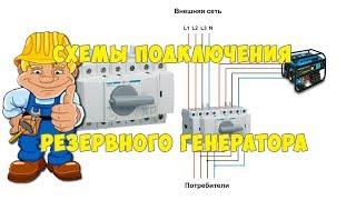 Схема подключения резервного генератора к дому. Реверсивный рубильник схема подключения
